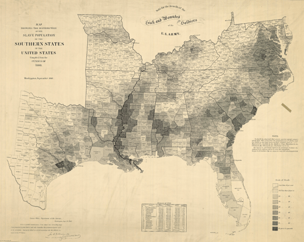 Old Map Shows Slavery In The United States Flowingdata - Old-map-of-us
