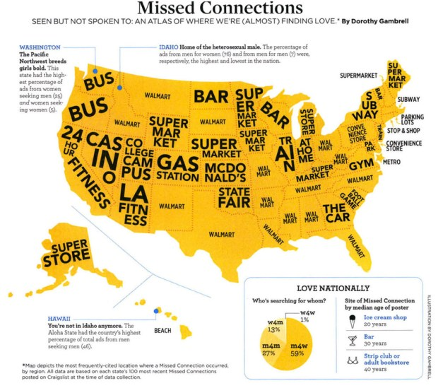 Craigslist Org Ny State: Map Of Craigslist Missed Connections