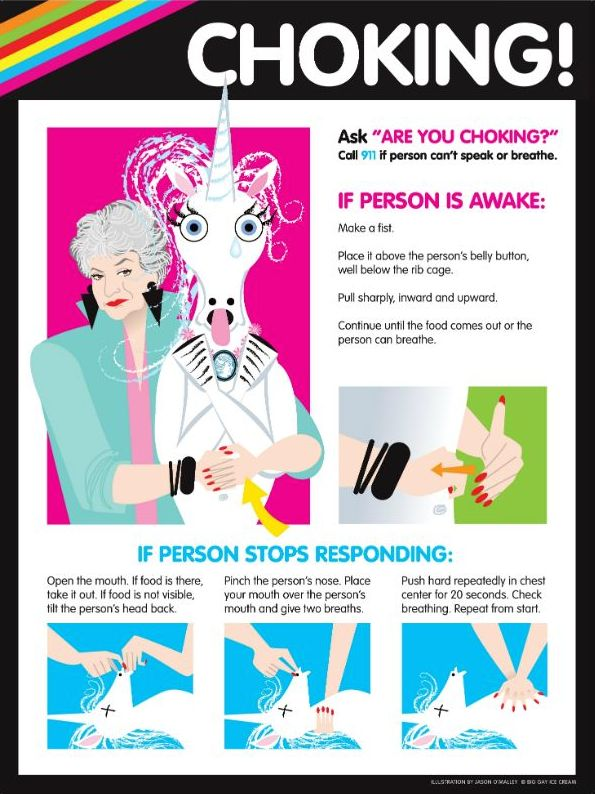 Choking unicorn