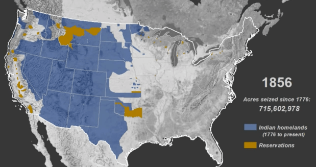 Map Of America History.Mapped History Of How Native American Land Was Taken Flowingdata