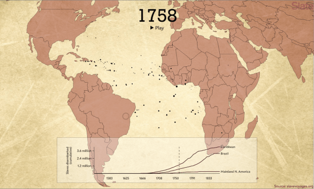 Animated Map Shows TransAtlantic Slave Trade FlowingData - Portugal map interactive
