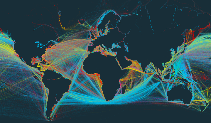 Global Shipping In A Narrated Interactive Map FlowingData - Interactive global map