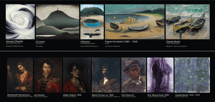 A Google Arts Culture Experiment X Degrees Of Separation Shows A Path Of Visual Connections Between Two Art Pieces Of Your Choosing