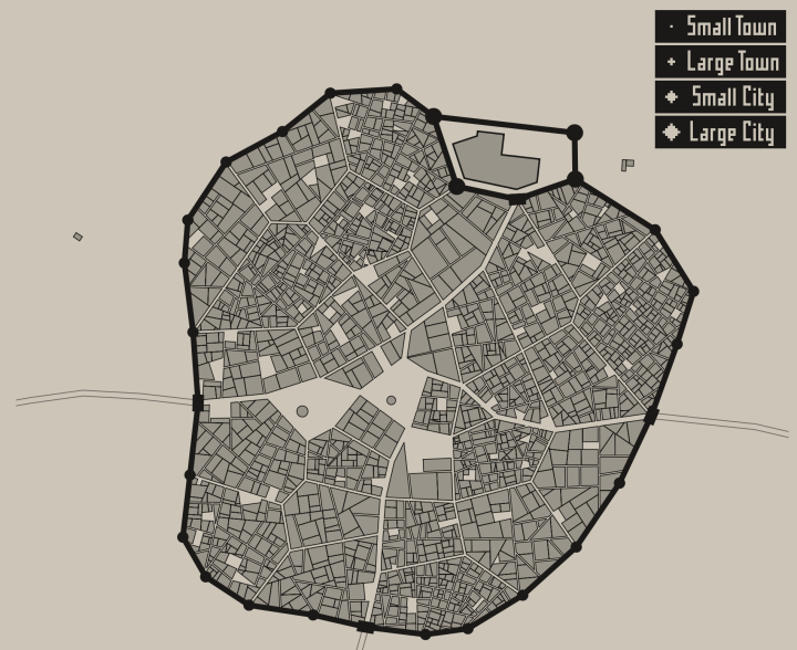 Medieval fantasy city generator flowingdata game developer oleg dolya made a medieval fantasy city generator select the size you want and get something like the above the generation method is gumiabroncs Choice Image