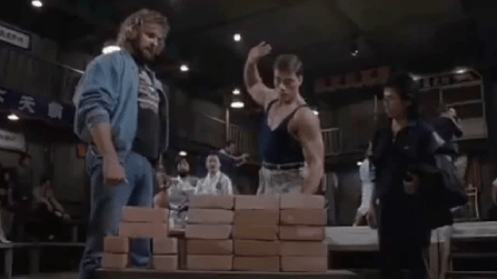 Bloodsport-1988-Jean-Claude-Van-Damme-Donald-Gibb-brick-break