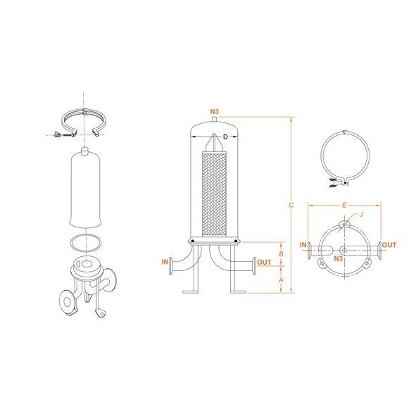 filtri sanitari mono cartuccia Flowise scheda tecnica