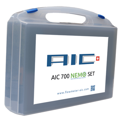 AIC 700 NEMO set with BC 3329 AIC board computer recording CO2 emissions.