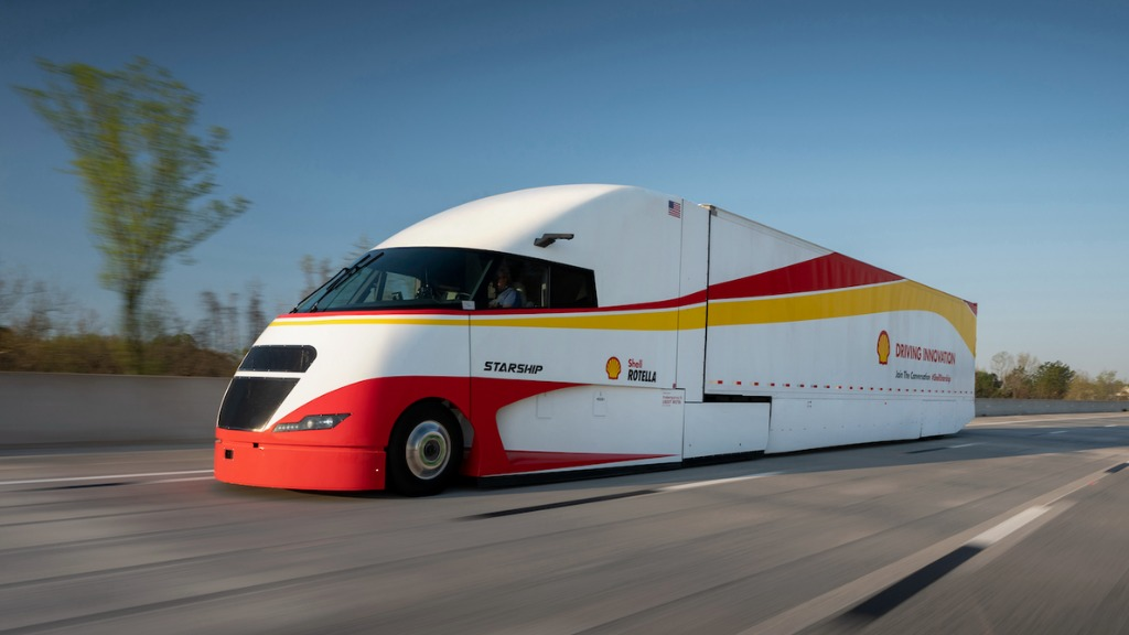 fuelmeter equipped Starship Truck