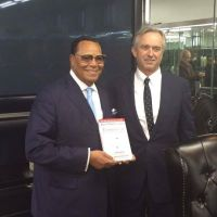 The Honorable Minister Louis Farrakhan with Robert Kennedy Jr.