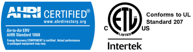 AHRI ETL Certification Logos