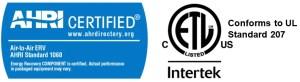 HPT is AHRI certified & ETL listed