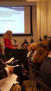 Lisa Testifying at the FDA