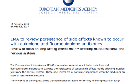 EMA to review persistence of side effects known to occur with quinolone and fluoroquinolone antibiotics
