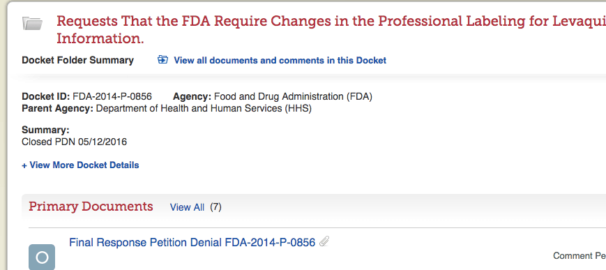 Petitioning the FDA – Comments Needed