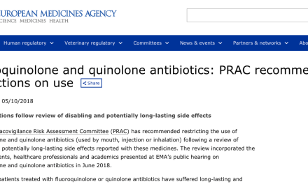 EMA Recommends Restriction of Fluoroquinolones in Europe