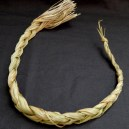"Through burning, cleanses person of negative energy-USA-Native American-Sweet grass-21 1/2"" long"