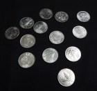 Thirteen silver coins displayed at weddings (arras)