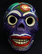 "Decoration for Day of the Dead (honors ancestors)-Latin America-Aztec/Spanish heritage-Ceramic/Glaze-5 1/2"" x 7 1/2"""