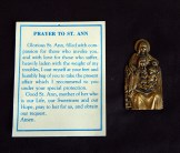 "Protection against ill health and evil-Quebec, Canada-Roman Catholic-Metal/Paper-2 1/2"" x 1 1/4"""