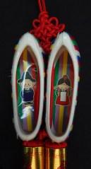 "Protects children-Korea-Buddhist-Red string/Plastic-3"" long"
