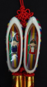 "Protects children-Korea-Buddhist-Red string/Plastic-3"" long"