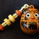 "Reminder to get up after being knocked down-Japan-Zen Buddhism-Wood with beads and elastic-4 3/4"" long"