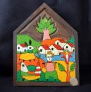 "Decoration-El Salvador?-Salvadoran?-Paint on wood-6 1/4"" x 4 3/4"""