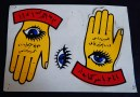 """Protection from evil eye-Egypt-Egyptian-Paper/Adhesive-7 1/2"""" x 5 1/2"""""""