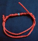 "Good luck/Protection-Taiwan-Taiwanese-Knotted red string-3"" long"