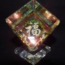 "Good luck and long life-China-Buddhism-Glass-3 1/4"" tall"
