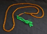 "Prayer counter-Iran-Islam-99 glass beads on green string-23"" long"