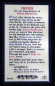 Prayer Card for Kateri Tekakwitha (reverse side)