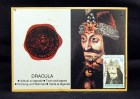 Official Dracula Seal, postage stamp, image of Vlad Tepes mounted on card