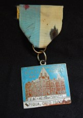 Medal from the Plaza Hotel in Piqua, Ohio, 1980