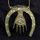 Amulet, Hamsa hanging from horseshoe