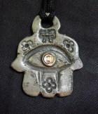 Amulet, Hamsa, pink eye in center
