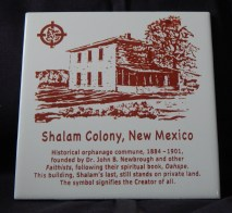 Tile with information about the now-exitinct Shalam Colony-Commememorative of 19th century orphanage and commune