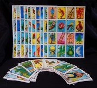 La Lotería boards/cards (images identified in Spanish)