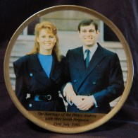 Tin of candy with photos of Prince Andrew and Sarah (Fergie) Ferguson (side view)