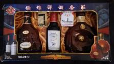Replicas of liquor bottles & packs of cigarettes (Joss)