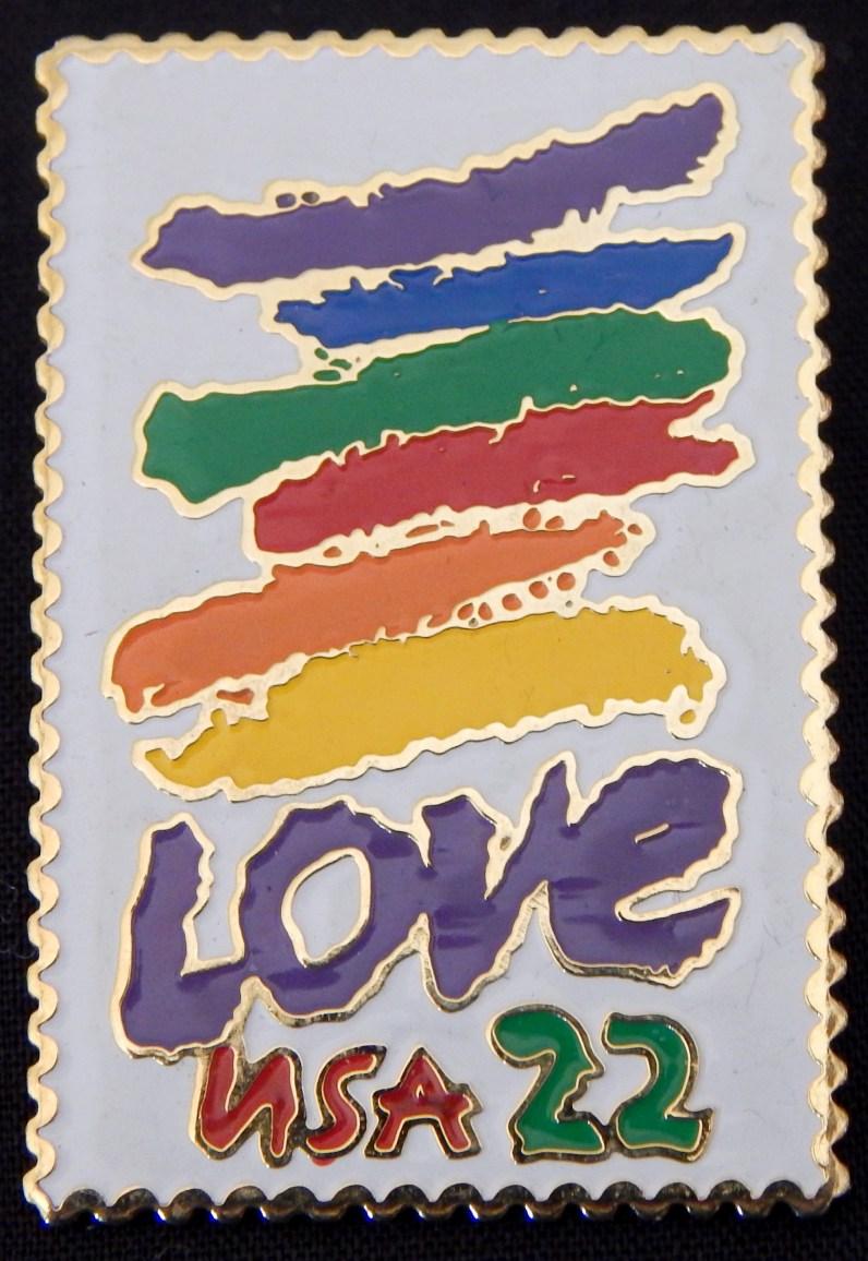 Replica of a $.22 Love Stamp
