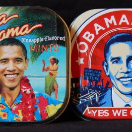 "Memorabilia-Hawaii, USA-American/Popular Culture-Metal/candy-Each tin-1 3/4"" x 1 3/4"""