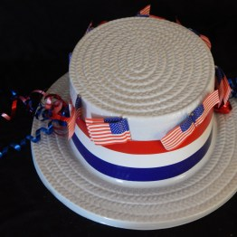 "Costume accessory-USA-American-Plastic/Ribbons-11 1/2"" x 10"""