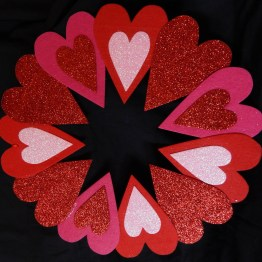 Commemorates St. Valentine's Day
