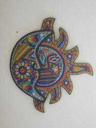 Huichol Beaded Sun and Moon