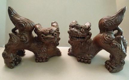 "Shi sha; Okinawa, Japan Glazed stoneware, 6"" x 6"", purchased new 2006."