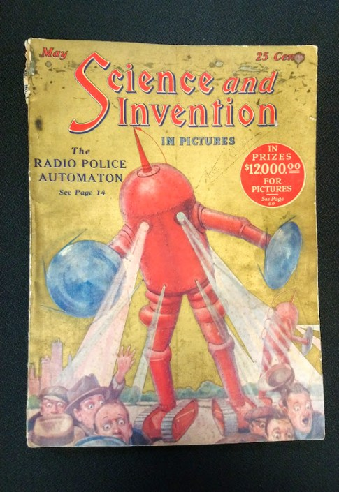"""Science and Invention magazine, May 1924. Published in New York City by Hugo Gernsback. 8.5"""" x 11.75"""""""