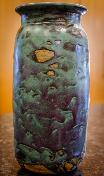 Pottery vase made by my father, John Banks.