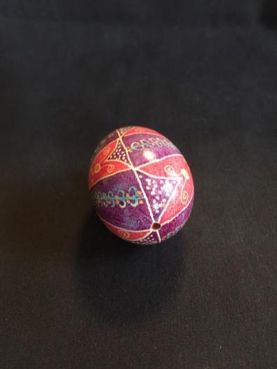 Ukrainian Easer egg by Ida Moffat, Springfield, Oregon