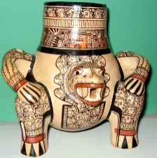 "Greater Nicoya, Pataky style reproduction Clay 7"" x 7"""